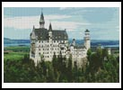 Neuschwanstein Castle in Germany - Cross Stitch Chart