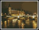 Night Bridge (Paris) - Cross Stitch Chart