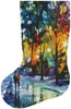Night Colors Stocking (Left) - Cross Stitch Chart