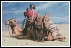 A Nomad and his Camel - Cross Stitch Chart