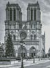 Notre Dame Black and White - Cross Stitch Chart