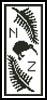 New Zealand Bookmark 2 - Cross Stitch Chart