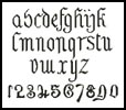 Olde Alphabet 2 (Lowercase) - Cross Stitch Chart
