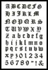 Olde Alphabet small - Cross Stitch Chart