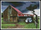 Old Barn in a Storm - Cross Stitch Chart