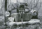 Old Car (Black and White) - Cross Stitch Chart