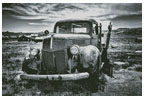 Old Car (Black and White) 2 - Cross Stitch Chart