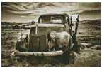 Old Car (Sepia) 2 - Cross Stitch Chart