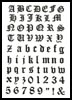 Olde Alphabet Large - Cross Stitch Chart