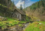 Old Mill, Black Forest, Germany - Cross Stitch Chart