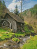 Old Mill, Black Forest, Germany (Crop) - Cross Stitch Chart