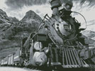 Old Train (Black and White) - Cross Stitch Chart