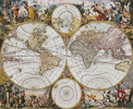 Old World Map - Cross Stitch Chart