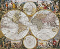 Old World Map (Large) - Cross Stitch Chart
