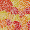 Orange Flowers Cushion - Cross Stitch Chart