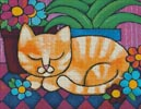 Orange Tabby Cat - Cross Stitch Chart