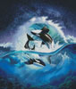 Orca Wave - Cross Stitch Chart