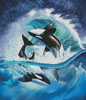 Orca Wave (Crop) - Cross Stitch Chart