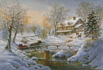 Over the Bridge to Grandmas House - Cross Stitch Chart