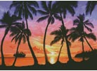 Palm Beach Sundown - Cross Stitch Chart