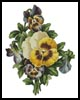 Pansies 2 - Cross Stitch Chart