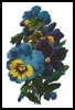 Pansies 3 - Cross Stitch Chart