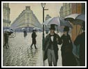 Paris Street, Rainy Day - Cross Stitch Chart