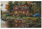 Peace River Cabin - Cross Stitch Chart