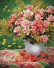 Peach Roses - Cross Stitch Chart