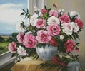Peonies in the Window - Cross Stitch Chart
