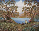 Picnic by a Lake - Cross Stitch Chart