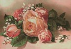Pink and Apricot Roses - Cross Stitch Chart