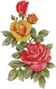 Pink and Yellow Roses - Cross Stitch Chart