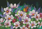 Pink Cosmos - Cross Stitch Chart