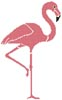 Pink Flamingo - Cross Stitch Chart