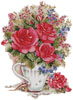 Pink Floral Arrangement - Cross Stitch Chart