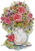 Pink Floral Arrangement 2 - Cross Stitch Chart