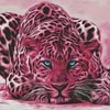 Pink Leopard - Cross Stitch Chart