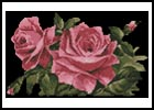 Pink Roses 1 - Cross Stitch Chart