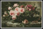 Pink Roses in a Basket - Cross Stitch Chart