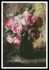 Pink Roses in a Vase - Cross Stitch Chart