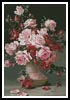 Pink Roses in a Vase 2 - Cross Stitch Chart