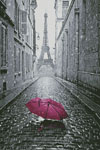 Pink Umbrella in Paris - Cross Stitch Chart