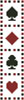 Playing Cards Bookmark - Cross Stitch Chart