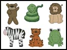 Playroom Animals - Cross Stitch Chart