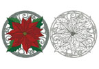 Poinsettia and Keltic Knots - Cross Stitch Chart