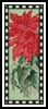 Poinsettia Bookmark - Cross Stitch Chart