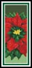 Poinsettia 2 Bookmark - Cross Stitch Chart