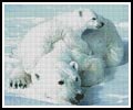 Polar Bear and Cub - Cross Stitch Chart