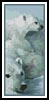 Polar Bears Bookmark - Cross Stitch Chart